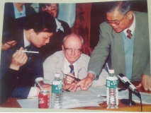 Barry advising on Shuibuya CFRD in Nov.1999 in China, 233m high. 15 years